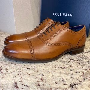 🆕 BRAND NEW Coke Haan Wayne Cap Toe Oxford